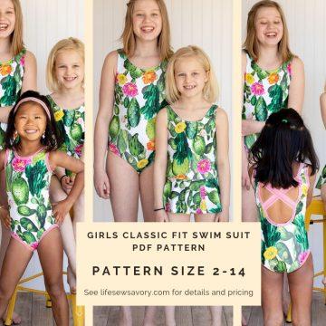 girls swimsuit pdf pattern