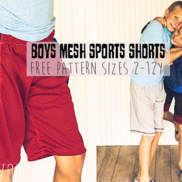 DIY Shorts Boys mesh shorts sewing pattern