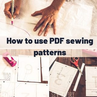 How to use PDF sewing patterns - Everything you need to know!