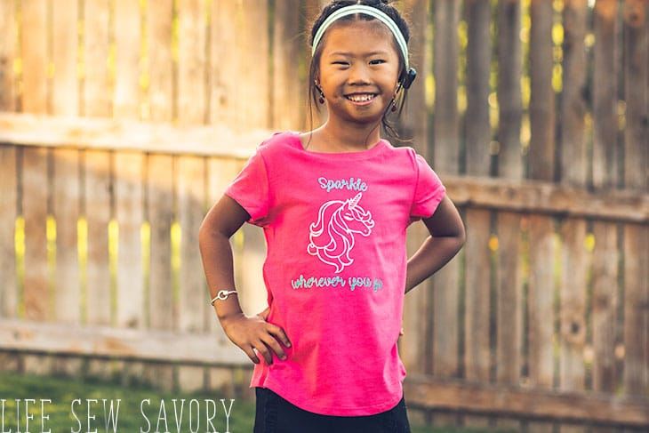 iron on vinyl shirts for girls
