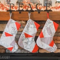 paper pieced christmas stocking pattern