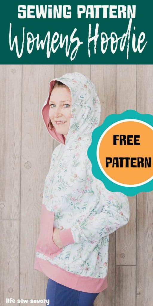 Free hoodie for women sewing pattern and tutorial from Life Sew Savory