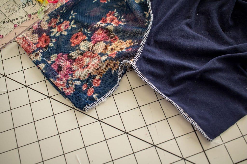 sew side seam of dress