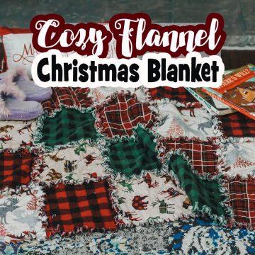 Cozy Christmas Fabric Blanket