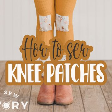 Knee Patches for leggings with multi directional sewing