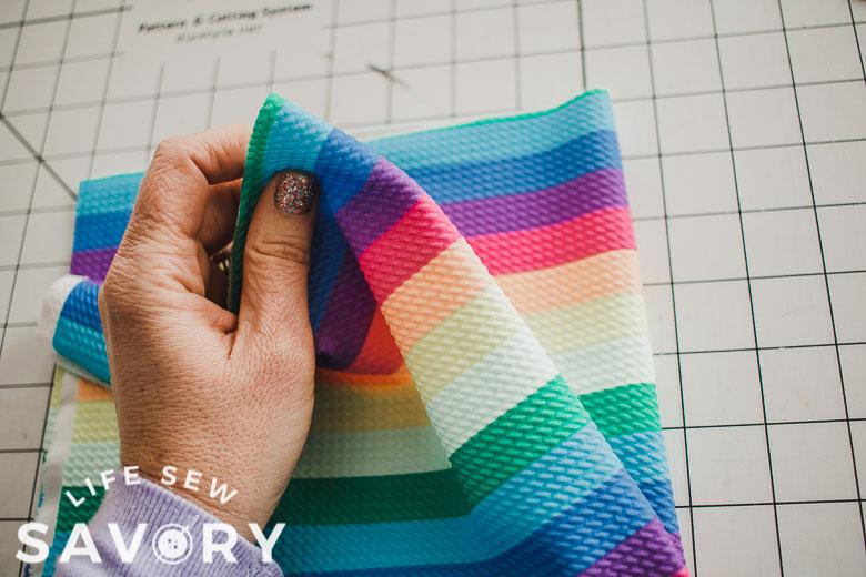 fold fabric again