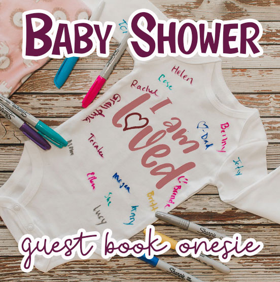 signature onesie for baby shower gift and guest book