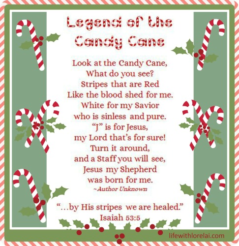 Candy Cane Legend with Printables - Life With Lorelai