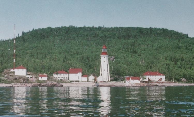Michipicoten Island East End Lighthouse Ontario Canada At