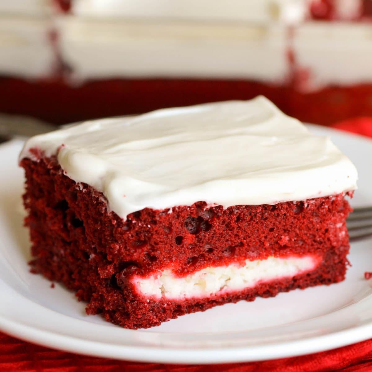 Red Velvet Cheesecake Cake Homemade Cream Cheese Frosting