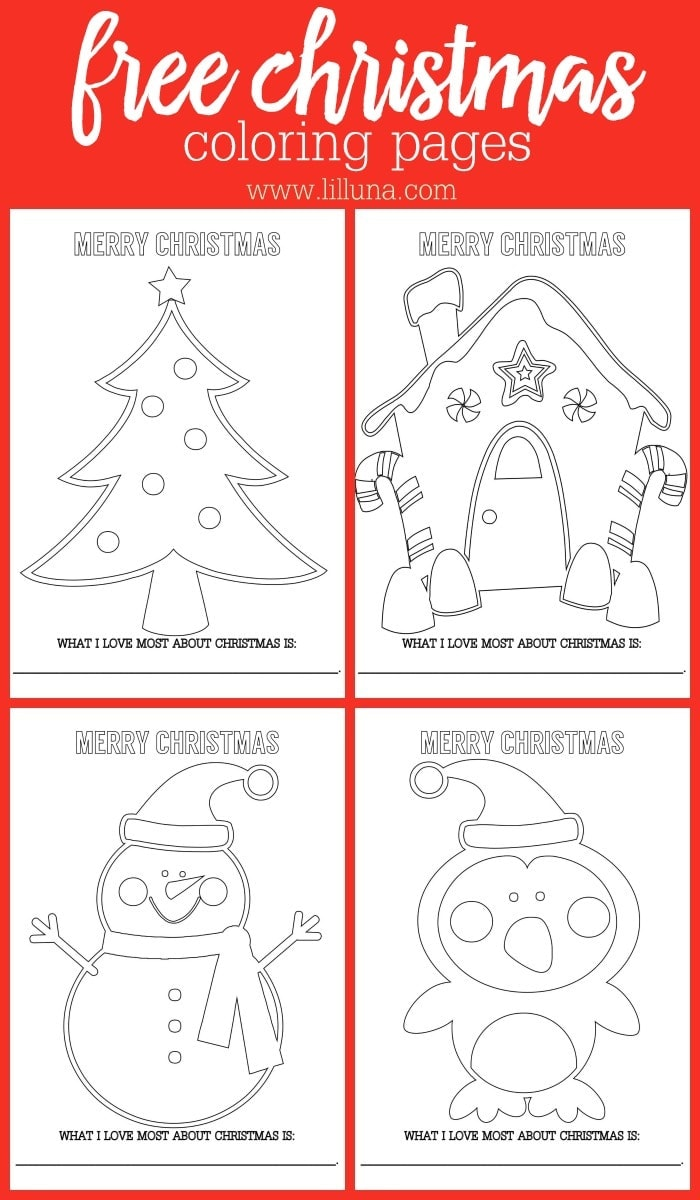 Free Christmas Coloring Sheets Lil