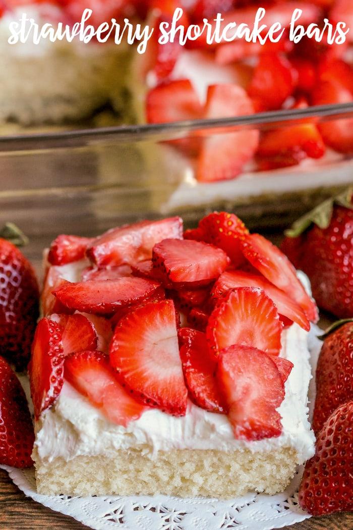 Strawberry Shortcake Bars Recipe Video Lil Luna