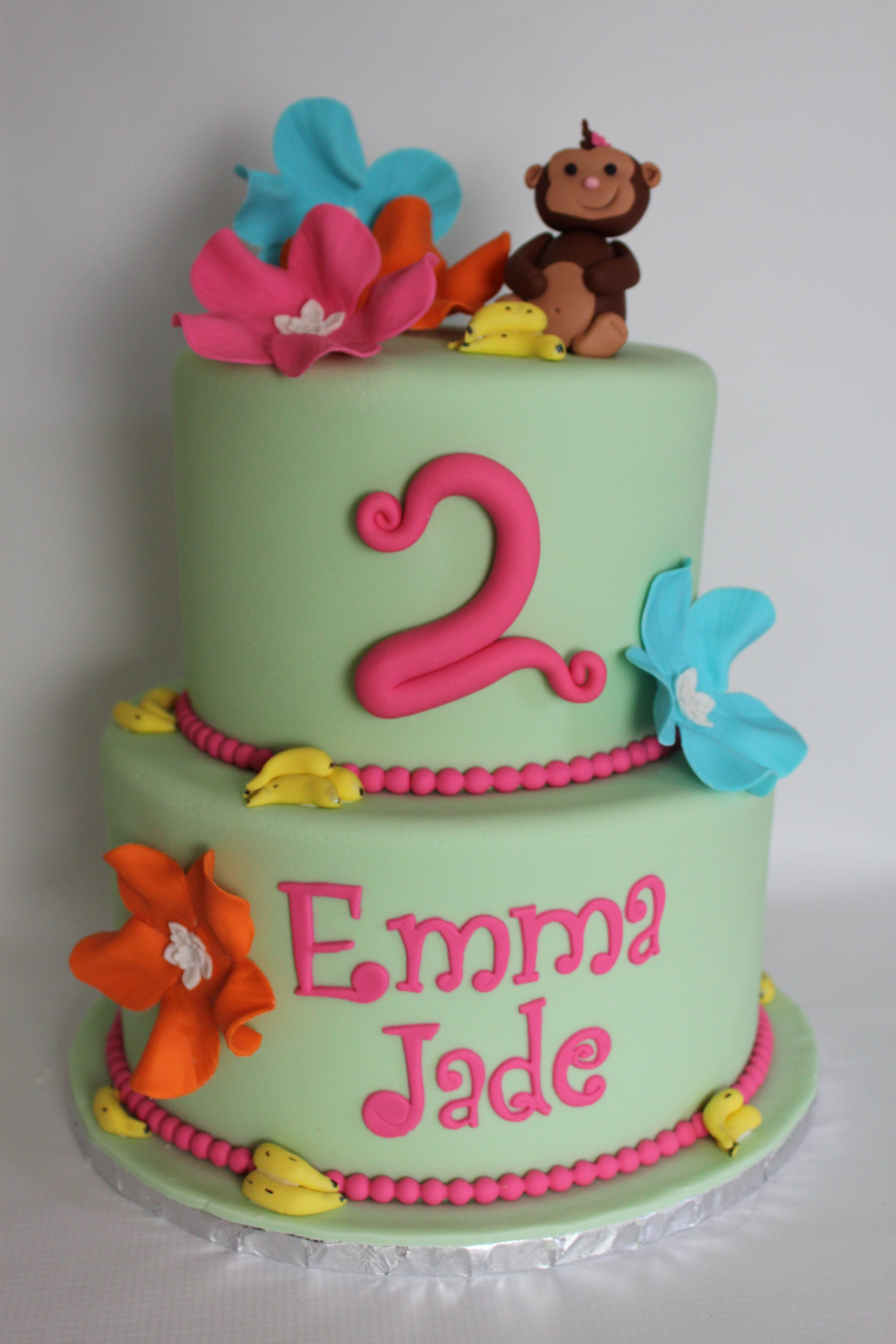 Tropical Monkey Cake Lil Miss Cakes