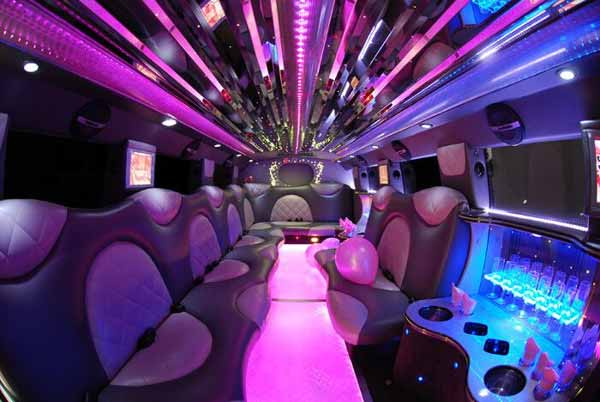 Limo Service Marion  INDIANA   Cheap Limos   Party Buses For Rent Cadillac Escalade limo interior Marion