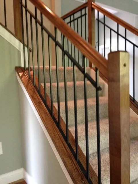 Ornamental Items Cleves Oh L L Ornamental | Iron Railing With Wood Handrail | Stair Systems | Stair Parts | Metal | Stair | Staircase