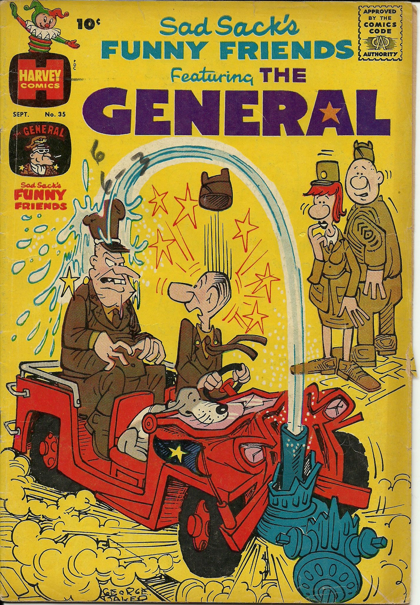 Sad Sack S Funny Friends Featuring The General Vol 1 No 35 September 1961 In Good Condition