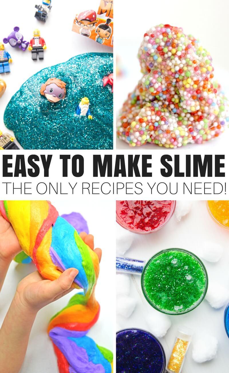 Elmer's Glue Slime (No Fail Slime Recipes!) | Little Bins ...