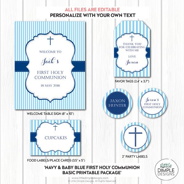 Printable Christening Invitation