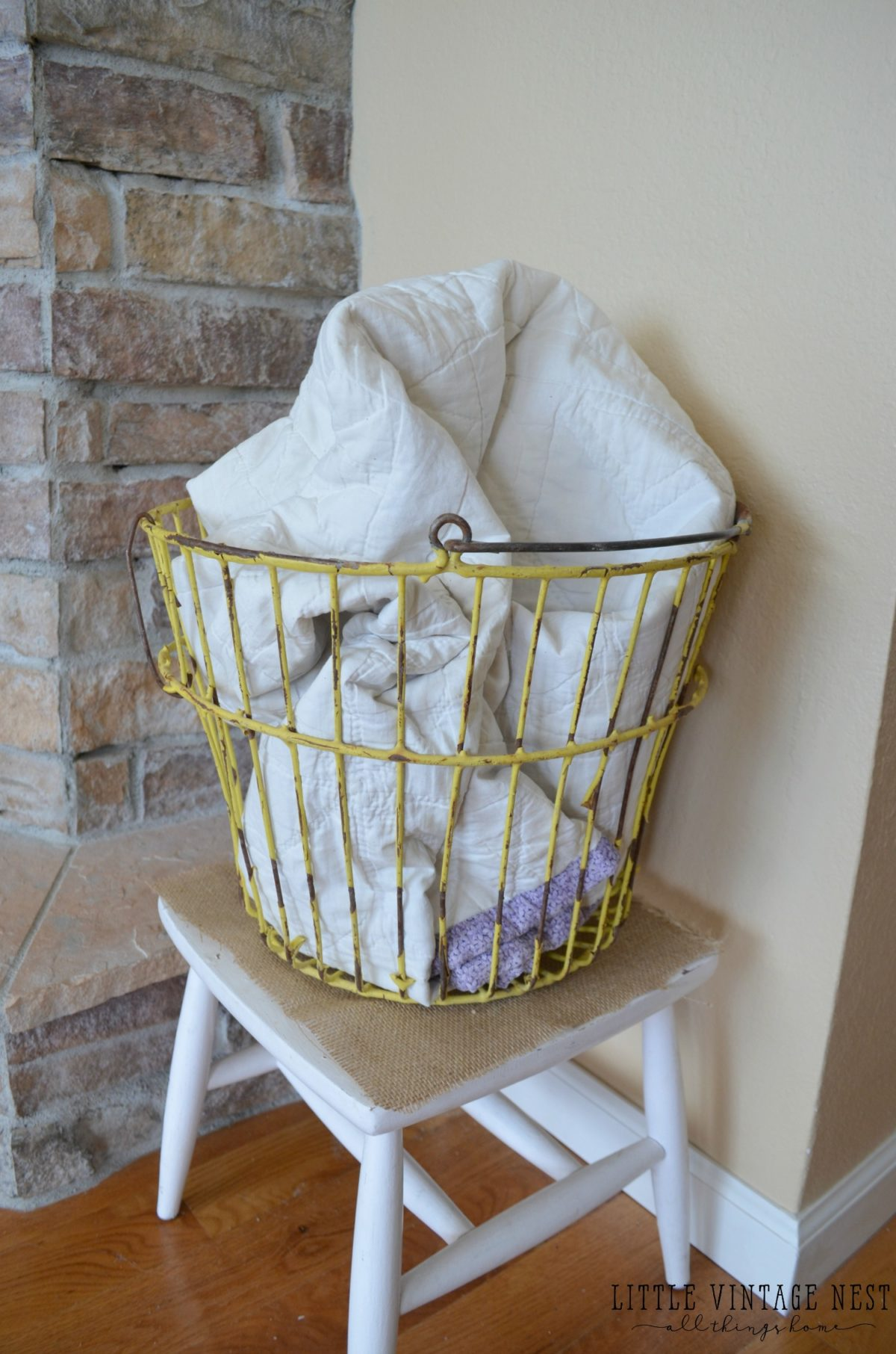 Farmhouse Style  Decorating with Wire Baskets   Little Vintage Nest Farmhouse Style  Decorate with Wire Baskets