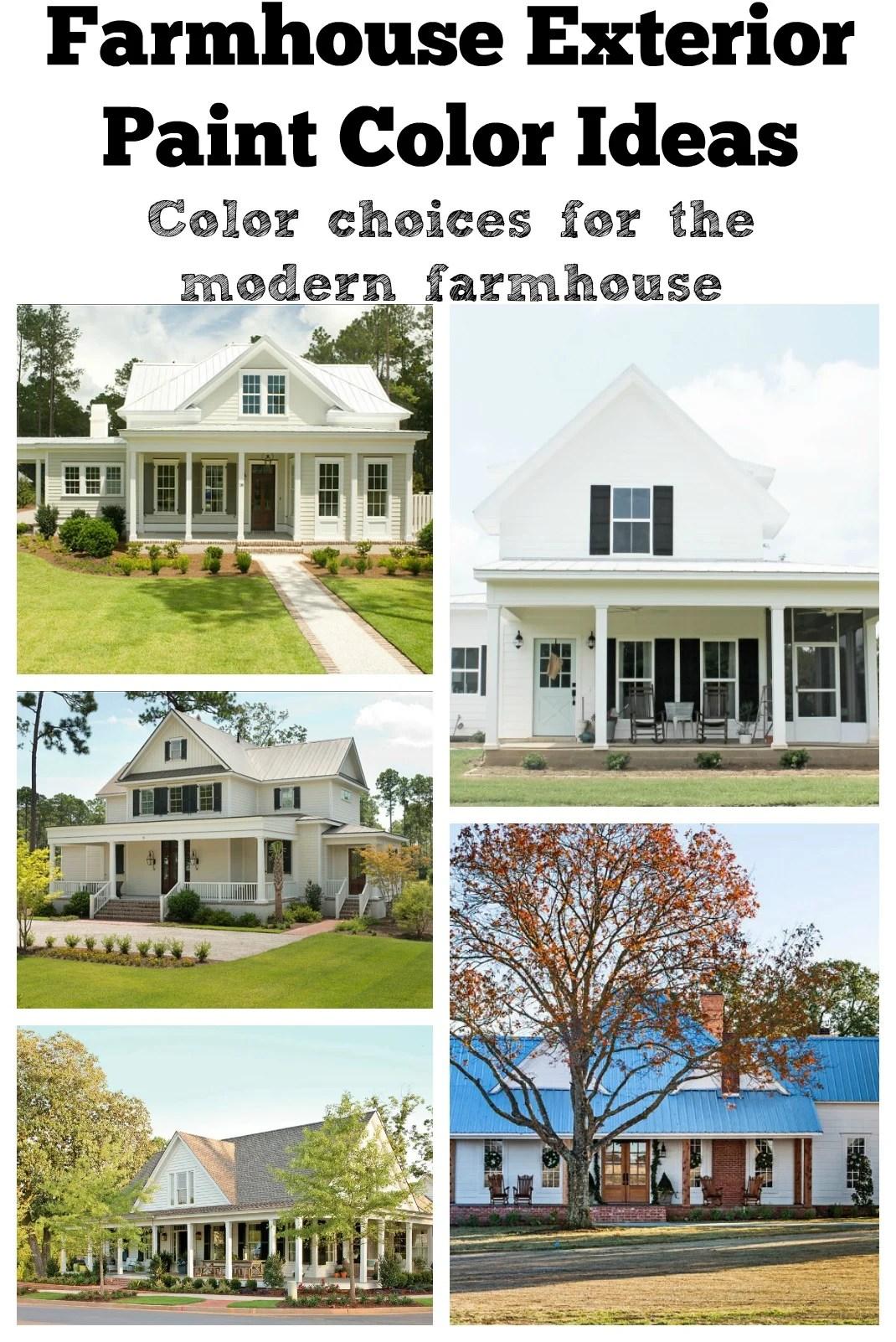 Farmhouse Exterior Paint Color Ideas Exterior Color