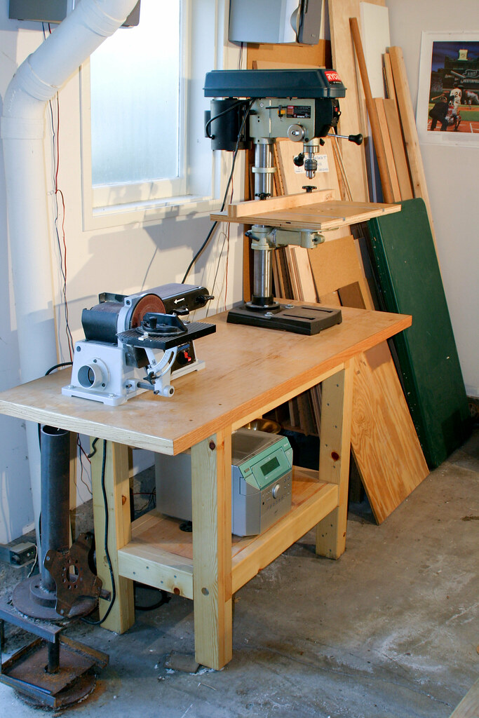 Drill Press Workbench Made Using A Modified Plan From My