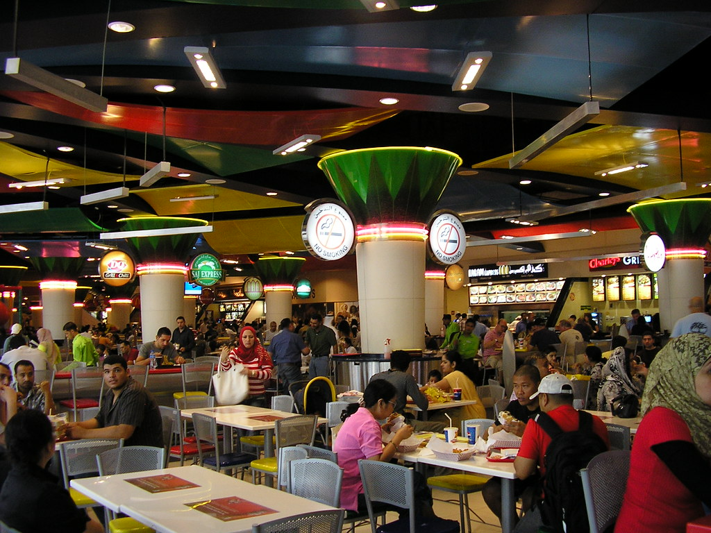 Dubai Mall Food Court Wow Being In The Dubai Mall Is