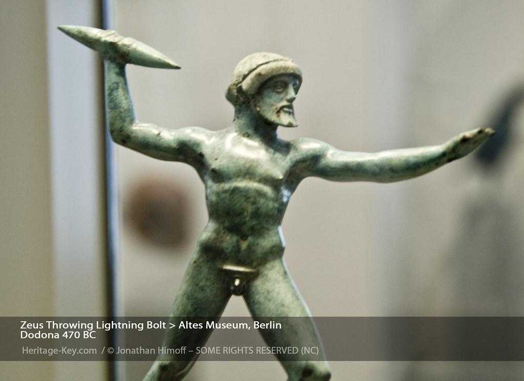 Zeus Hurling Lightning Bolt Altes Museum Berlin Zeus