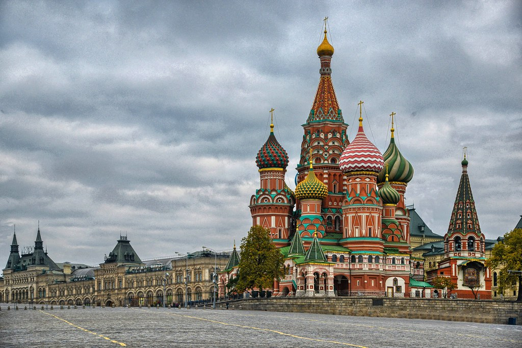 Saint Basil S Cathedral And The Gum In Red Square Russia