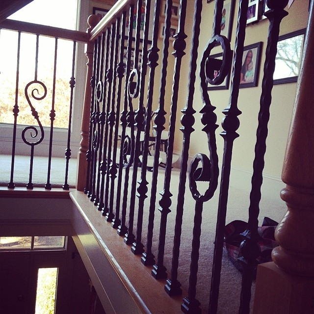 Installing Wrought Iron Balusters In Glen Allen Virginia … Flickr   Installing Wrought Iron Balusters   Wood   Stair Balusters   Railing   Stair Parts   Iron Stair Spindles