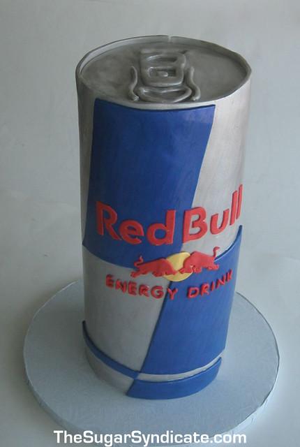 Red Bull Birthday Cake 169 The Sugar Syndicate Custom