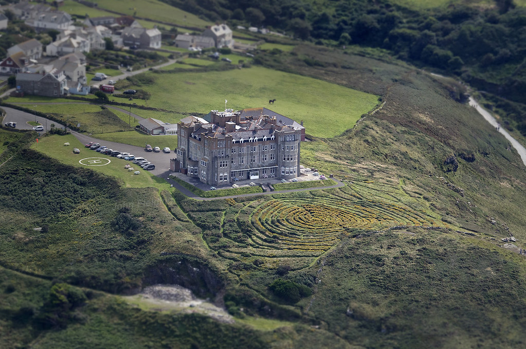 Camelot Castle Hotel In Tintagel Aerial View Camelot