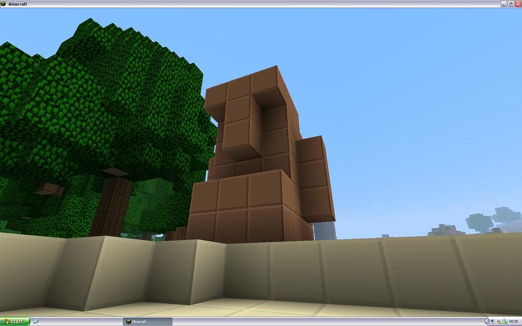 Minecraft Statue A Design My School Colleague Mitchell