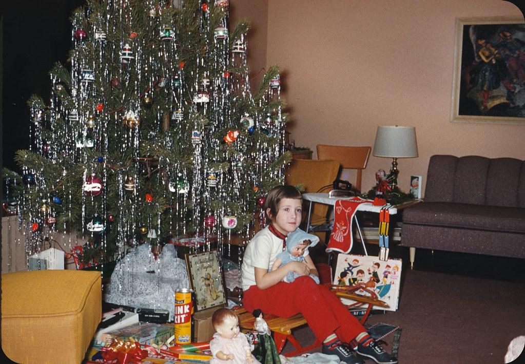 Mid Century Christmas 1959 169 Original 35mm Kodachrome