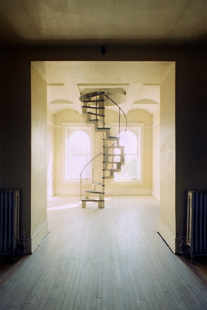 State Hospital Spiral Staircase To Attic Vince H Flickr   Spiral Staircase To Attic   Diy   Basement   Remodeling   Creative   Small
