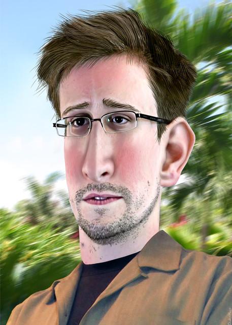 Edward Snowden Caricture Edward Joseph Snowden Aka