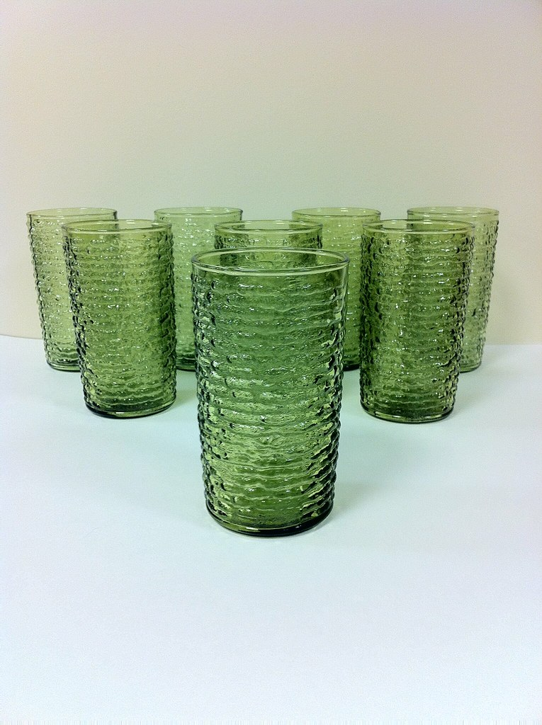 Soreno Drinking Glasses 1970s Anchor Hocking Soreno
