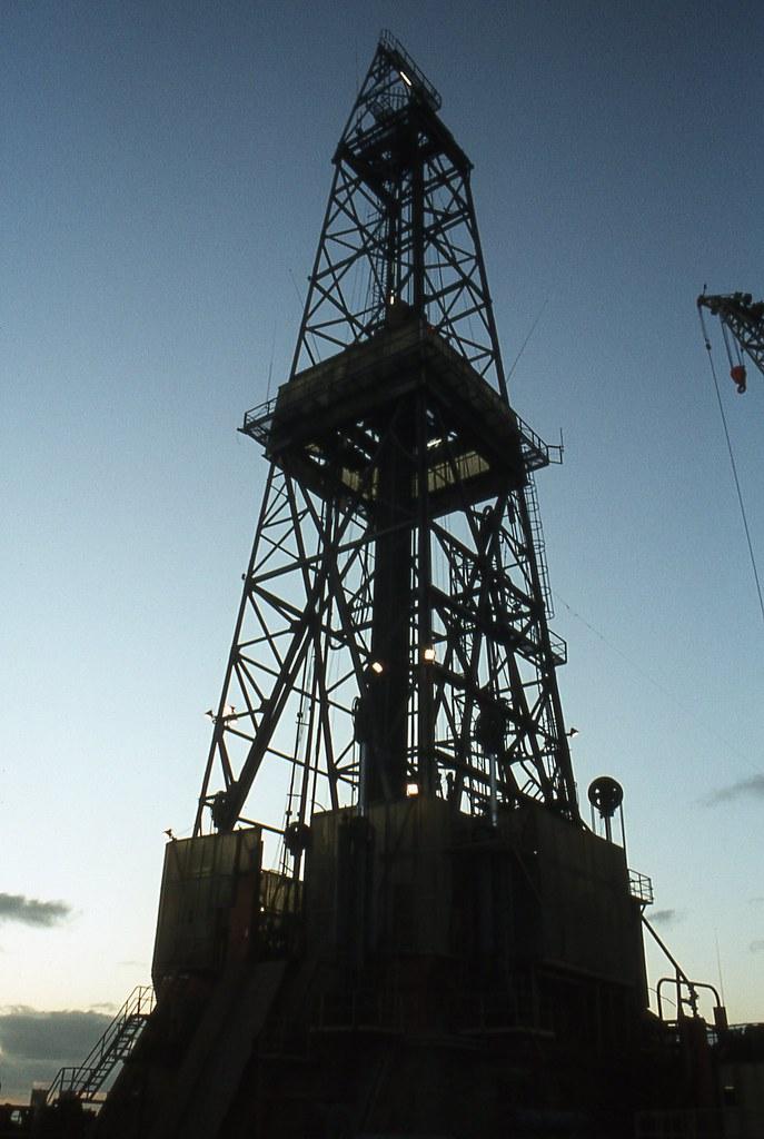 Dyvi Alpha Semisub Oilrig Derrick North Sea Oil Rig