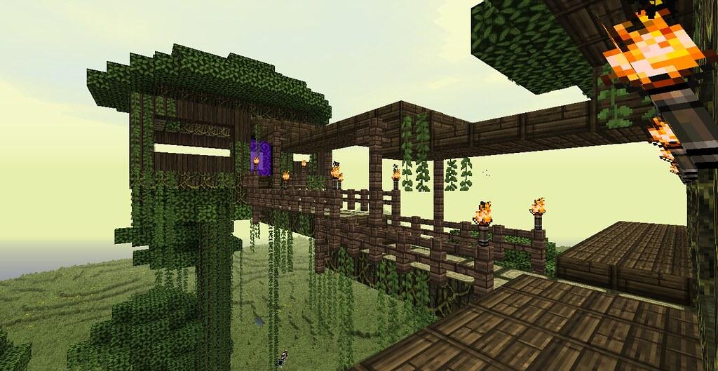 Minecraft Jungle Treehouse Thezygo Flickr