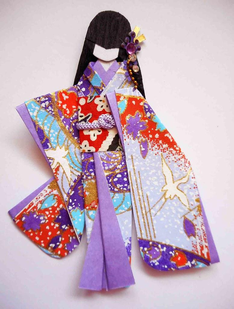Japanese Origami Doll 4 Nft Materials Yuzen Washi