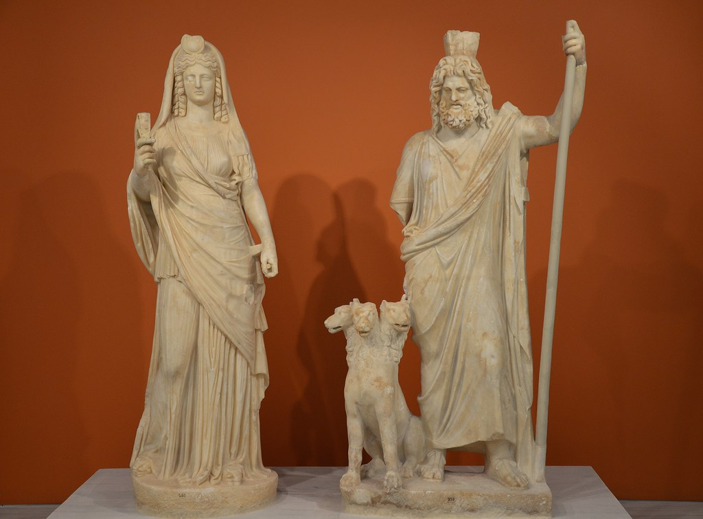 Statue Group Of Persephone As Isis And Pluto As Serapis