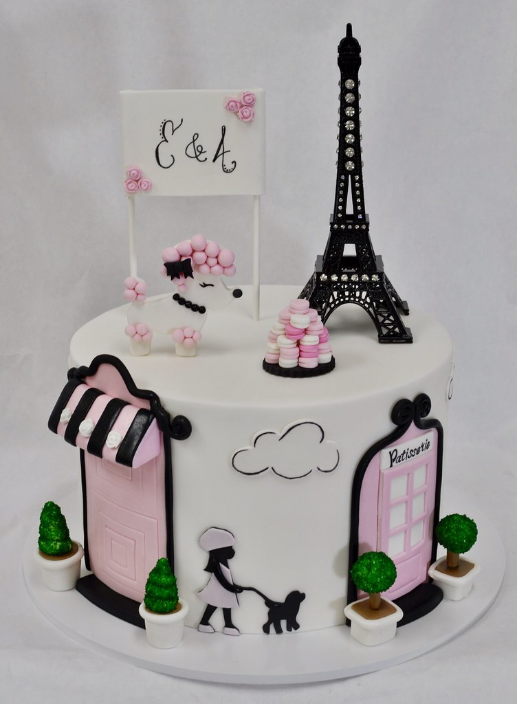 Paris Themed Birthday Cake Jenny Wenny Flickr