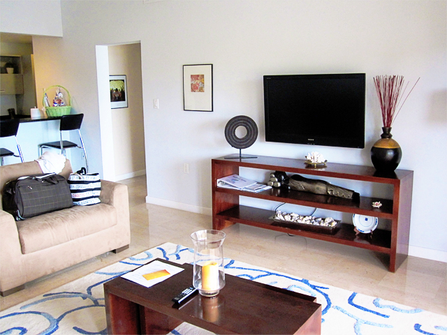 Living Room in One Bedroom at Princess Heights