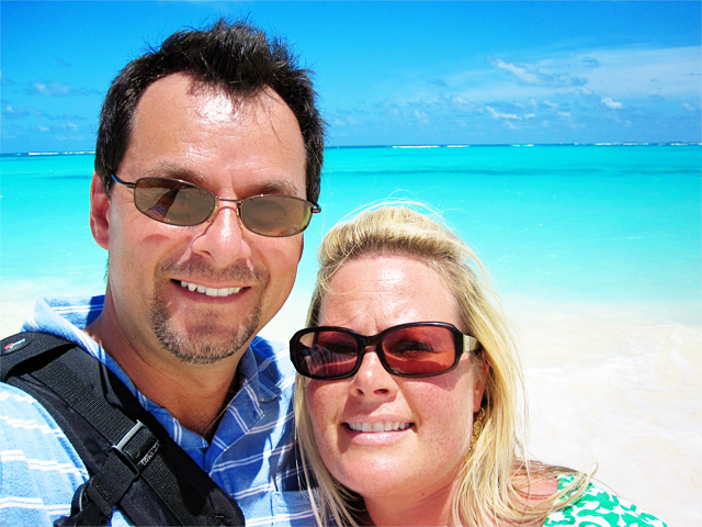 Steve and Kelly on beach in Anguilla