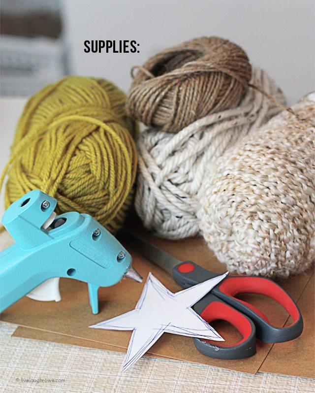 DIY Yarn Wrapped Star Ornament