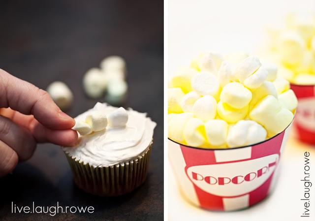Delicious Popcorn Cupcakes
