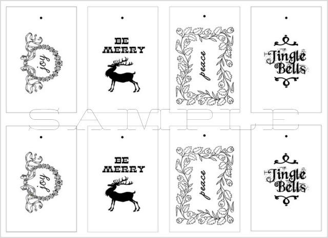 Printable Christmas Tags with LiveLaughRowe.com #printable #gifttags