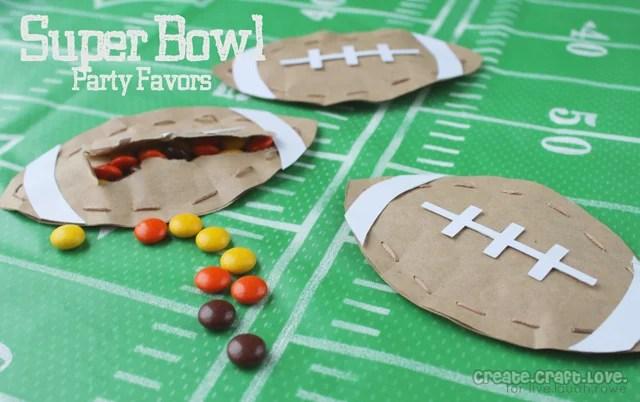 Super Bowl Party Favors by Create Craft Love for LiveLaughRowe.com #football #favor #tutorial