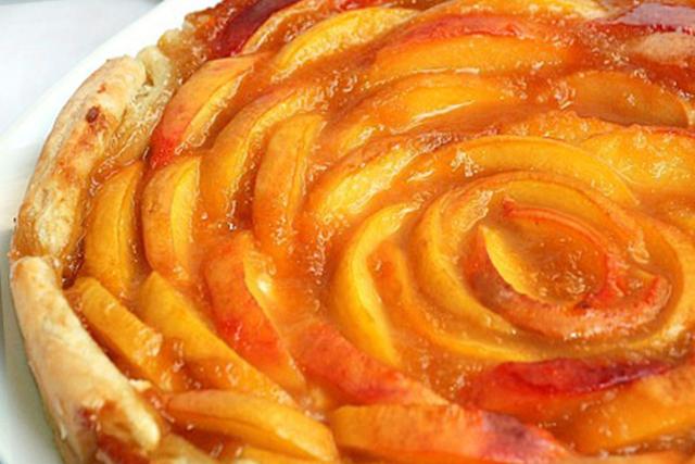 Peach Apricot Rose Tart