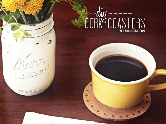 DIY woodburning cork coasters
