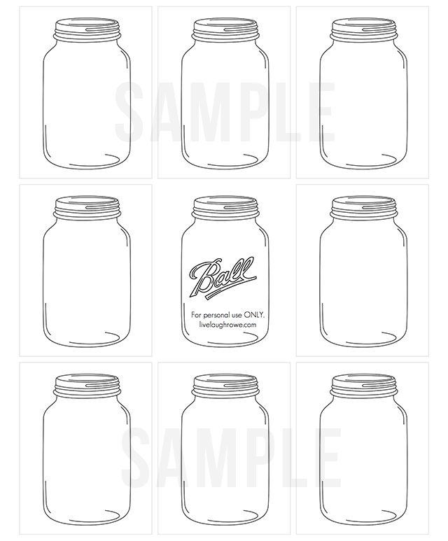 printable mason jars